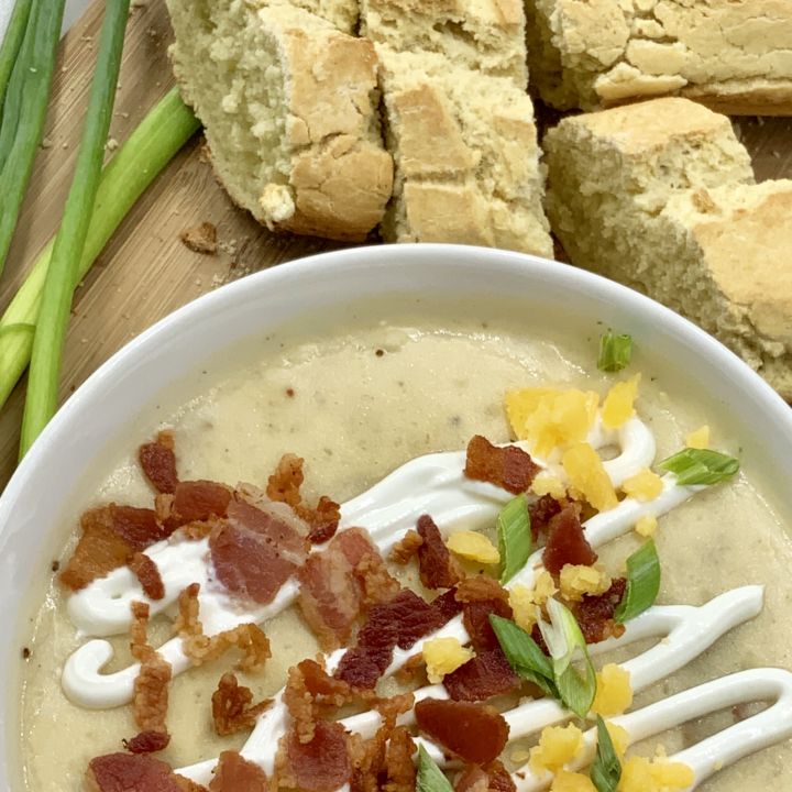 gluten free creamy loaded potato soup