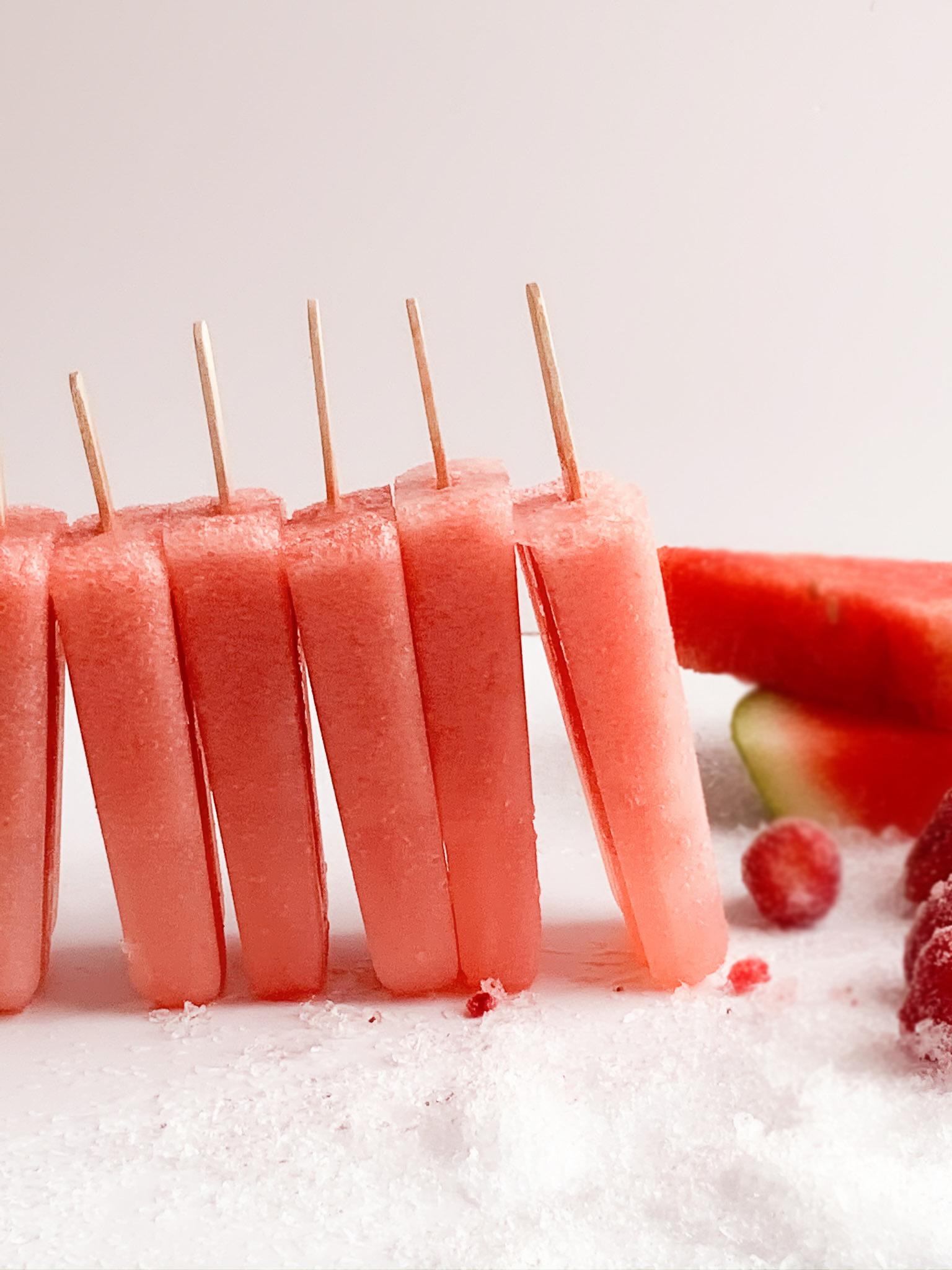 gluten free berry melon popsicles
