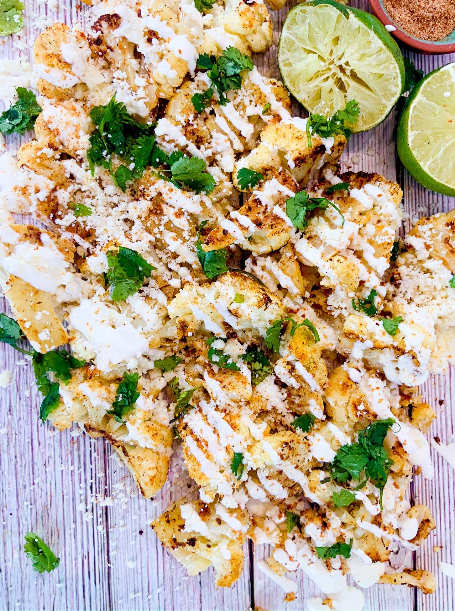 Mexican street cauliflower bites