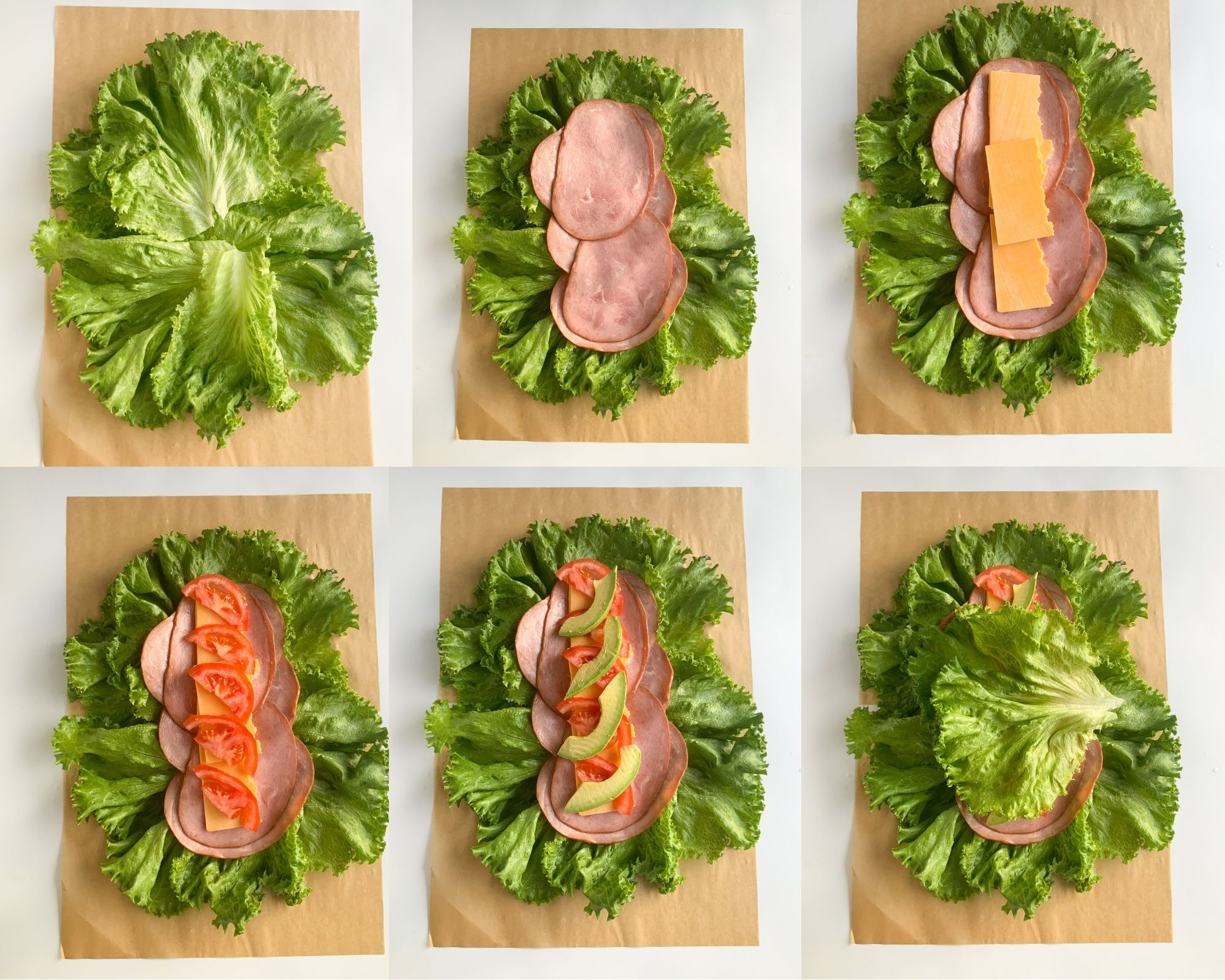 homemade lettuce wrap step by step photos