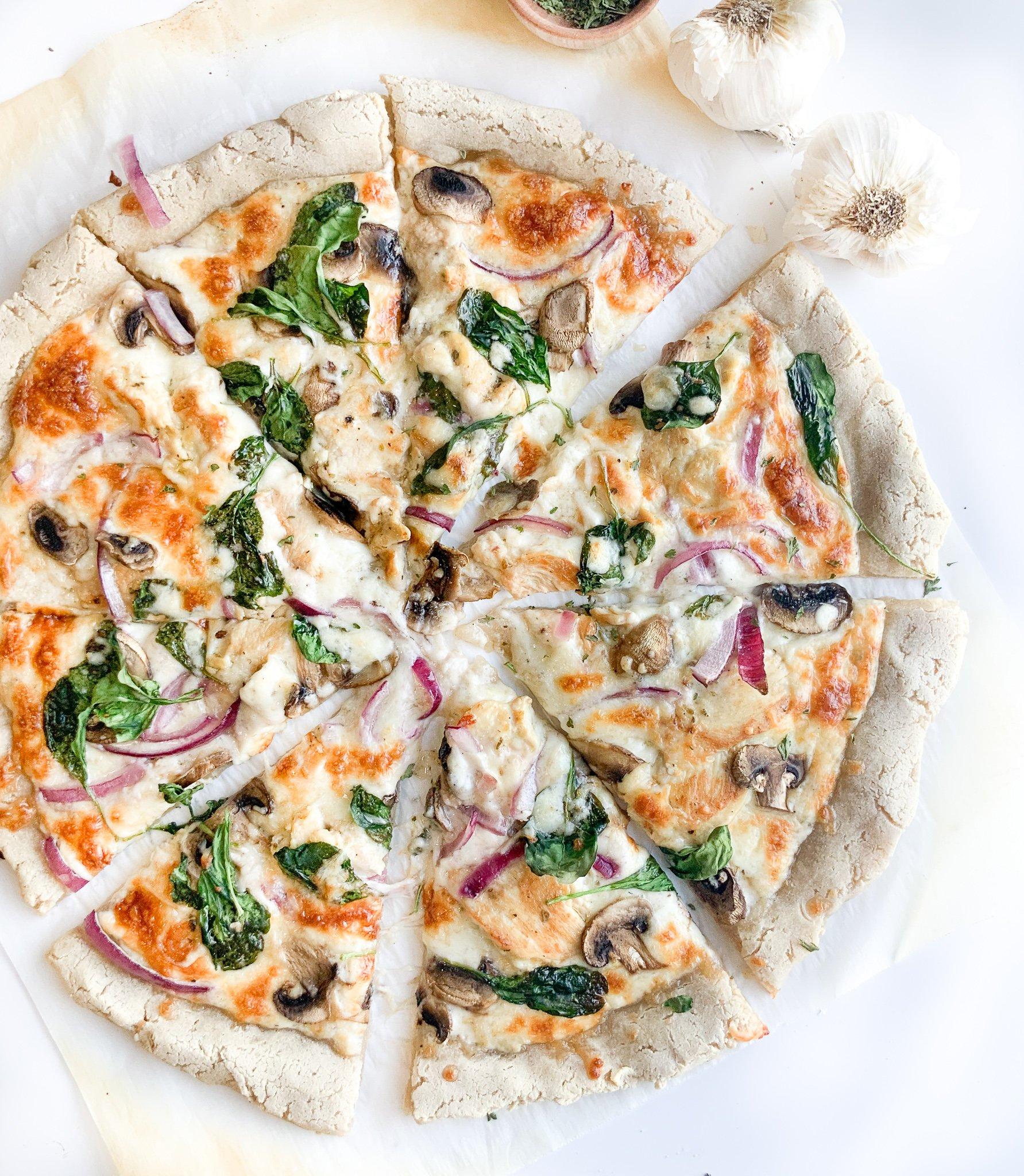gluten free white chicken pizza sauce