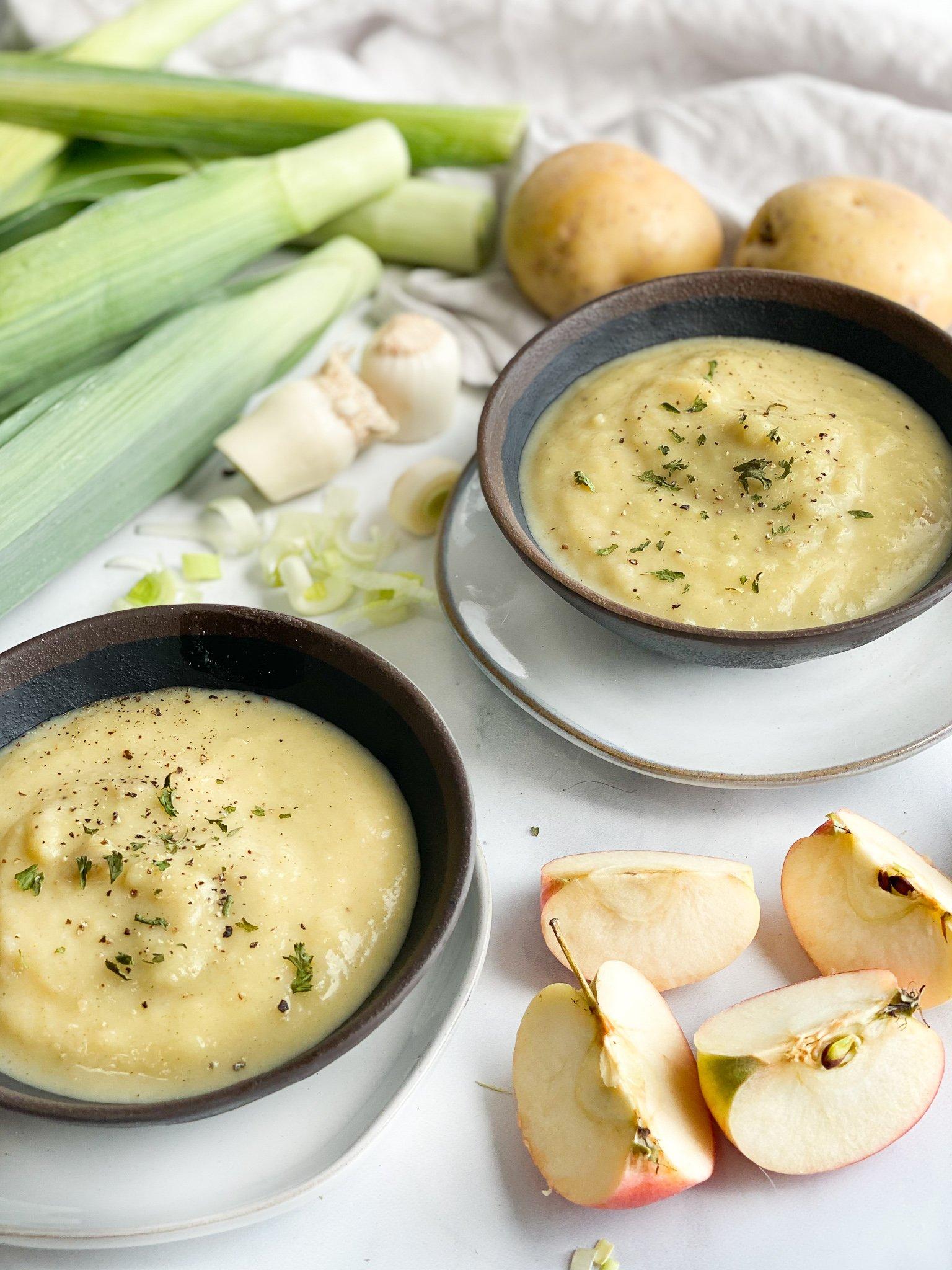 apple potato leek soup