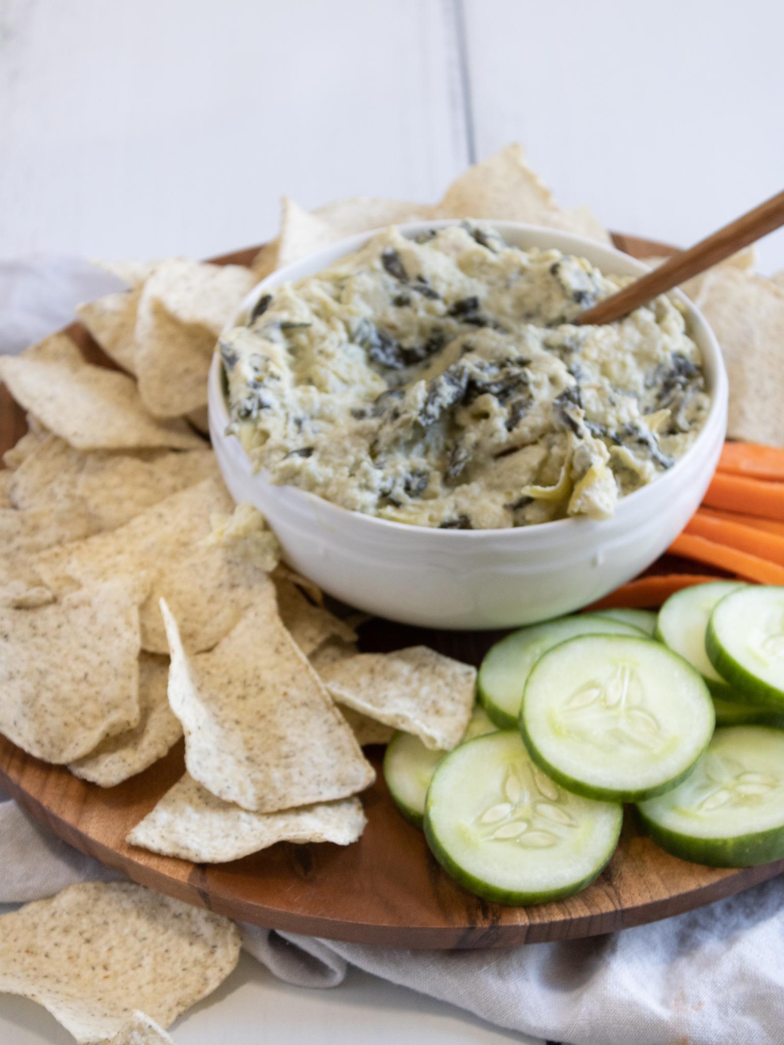 Gluten-free spinach and artichoke dip.