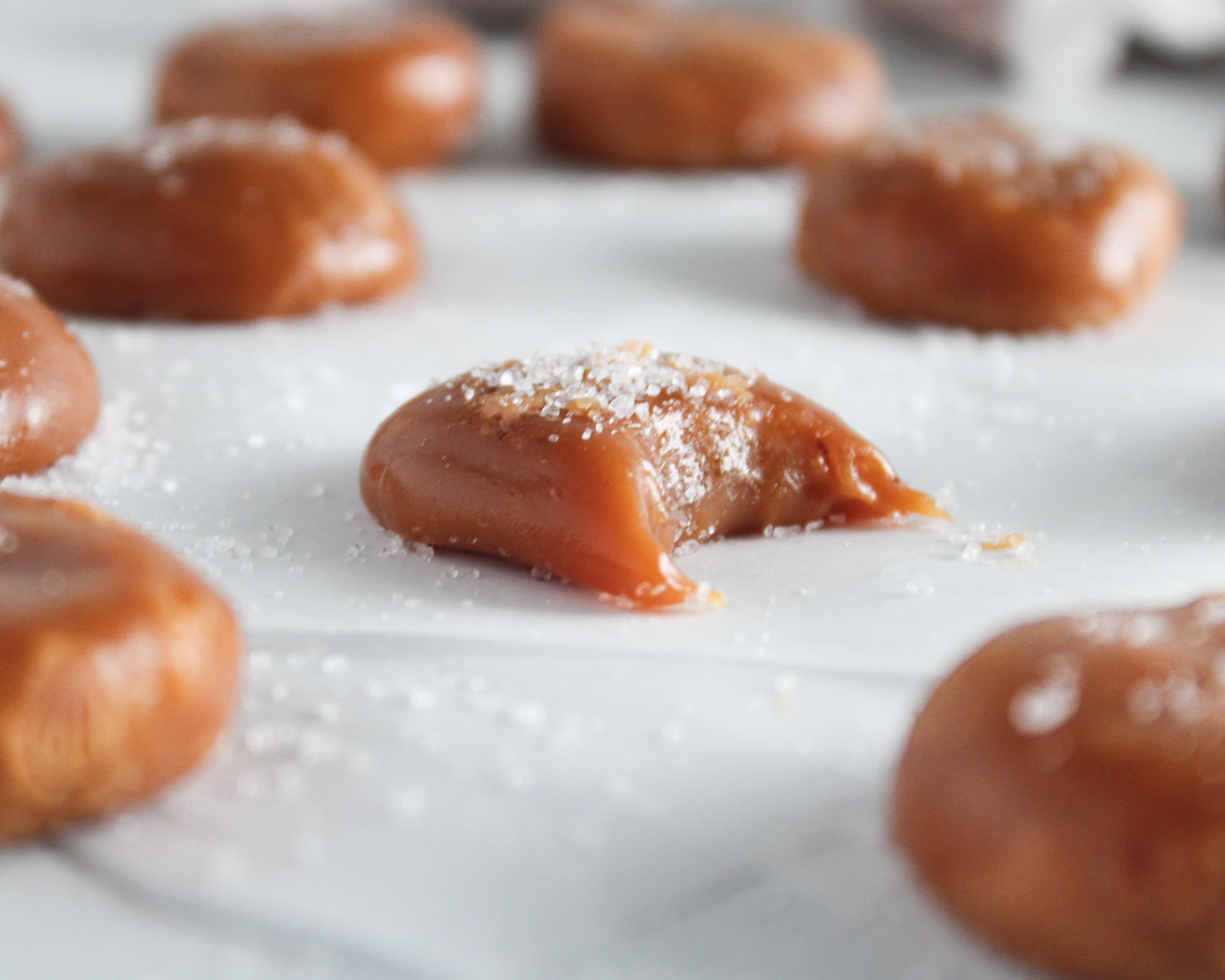 Easy homemade five ingredient caramel candy.